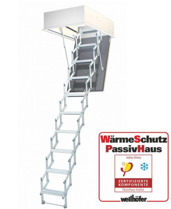 Wellhöfer Bodentreppe LiliPut + Passivhaus Wärmeschutz