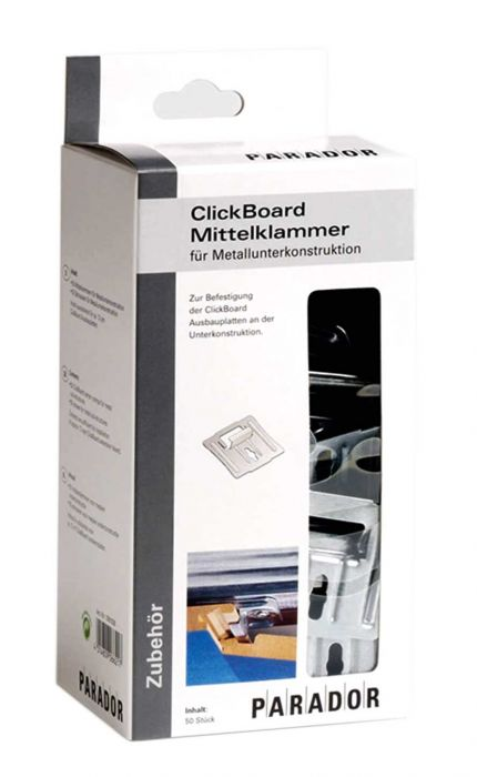 Parador ClickBoard Mittelklammer Set Metall