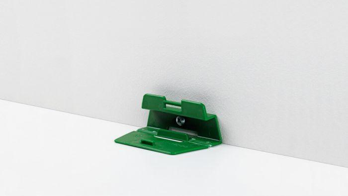 Parador Leistenclip grün für Sockelleisten