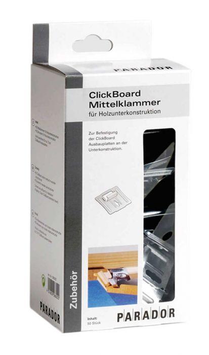 Parador ClickBoard Mittelklammer Set Holz