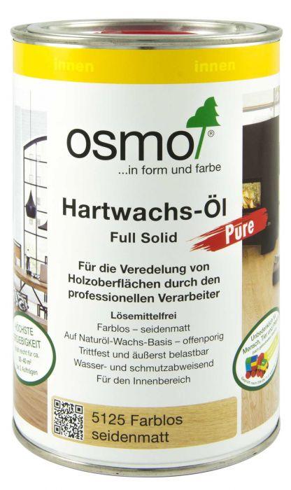 Osmo Hartwachs-Öl Pure 5125 1l Veredelung von Holzoberflächen